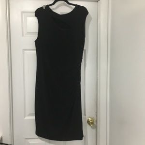 Ralph Lauren black dress with broach and cut outs